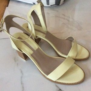 Zara basic collection yellow Green baby heels